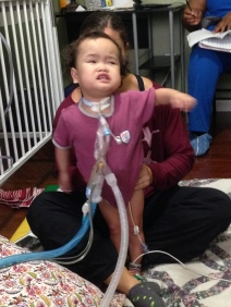 Isaac during physical therapy